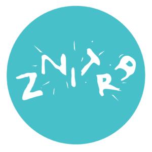 Nálepka ZNITRA ⌀ 100 mm [tyrkys]