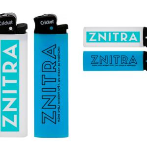 Zapalovač ZNITRA značky Cricket [bílý/modrý]